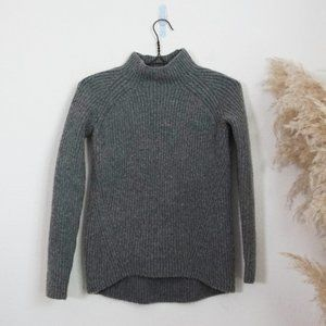 Madewell grey knit long sleeve turtleneck
